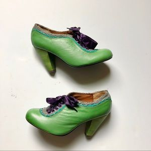 Poetic License Oxford Inspired Green Bootie